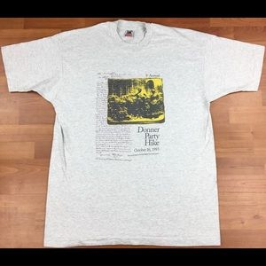 Vintage 1993 1st Annual Donner Party Hike T-Shirt
